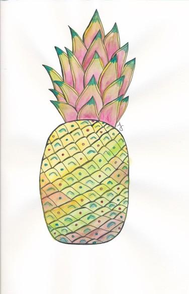 pineapple watercolor1_20160721_0001